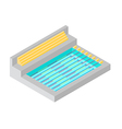 SWIMMING POOL ISOMETRIC FLAT DESIGN vector image