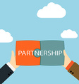 Symbol of business partnership vector image vector image