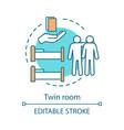 twin room concept icon vector image vector image