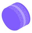 violet cream macaroon icon isometric style vector image vector image