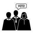 vote oratory icon simple style vector image vector image
