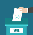 Voting box vector image