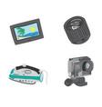 travel gadgets set vector image