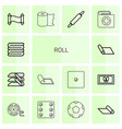 14 roll icons vector image vector image