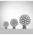 3d Abstract Tree Leadership vector image vector image