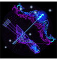 a series of signs of the zodiac made in neon art vector image vector image