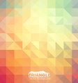 Abstract colorful triangle background vector image vector image
