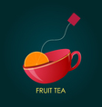 Abstract Fruit Tea Ceramic cup vector image vector image