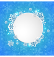 Abstract round Christmas banner vector image