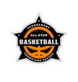 All star basketball sports logo emblem
