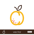 Apricot outline icon Fruit vector image vector image