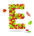 autumn letters with drops water vector image