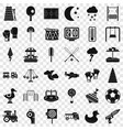 big playground icons set simple style vector image