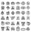big set of fishing icons carp fishing trout vector image vector image