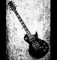 black blues guitar grunge vector image vector image