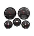 car dashboard 3d gauges speedometer tachometer vector image vector image
