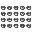 Chat emotion smile icons vector image vector image