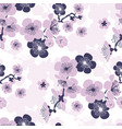 cherry blossom seamless pattern in violet colors vector image vector image