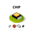 Chip icon in different style vector image vector image