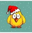 Christmas Chicken In Hat vector image vector image