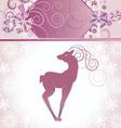 christmas decor deer vector image vector image