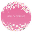 circular background with cherry blossoms vector image vector image