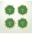 Collection labels with fresh fruits vector image vector image