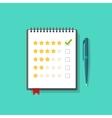 Concept of satisfaction feedback customer reviews vector image vector image