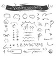 creative sketchy accents and symbols set