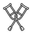 crutches icon outline style vector image vector image