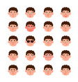 cute set boys with different vector image vector image