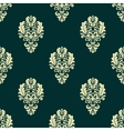 Damask style seamless floral pattern with beige