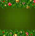 Dark Green Retro Card With Fir Tree vector image vector image