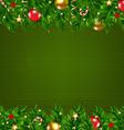 Dark Green Retro Card With Fir Tree vector image vector image