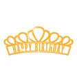 diadem icon decorative shiny royal head wear vector image