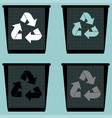 dustbin with sign utilization pail bucket serene vector image vector image
