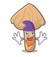 elf inocybe mushroom character cartoon vector image