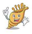 finger exotic shell mascot cartoon vector image