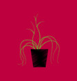 flat shading style icon plant in a pot vector image