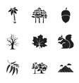 Forest set icons in black style Big collection of vector image vector image