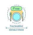 free breakfast concept icon vector image vector image