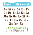 Funny alphabet Hand drawn calligraphic font ABC vector image vector image