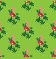 gazania flowers seamless pattern vector image vector image