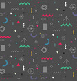 geometric elements flat pattern vector image