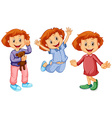 Girl in different clothes vector image vector image