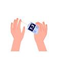 glucose blood test glucometer display sugar vector image