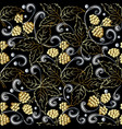 gold 3d berries abstract seamless pattern vector image vector image