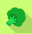 green broccoli icon flat style vector image vector image