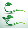 green leaf labels vector image vector image
