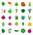 green space icons set cartoon style vector image vector image